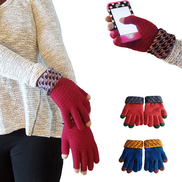 Womens Elegant Touch Screen Winter Gloves - Gifts Are Blue - 1