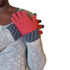 Womens Elegant Touch Screen Winter Gloves - Gifts Are Blue - 2