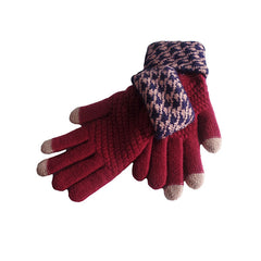 Womens Elegant Touch Screen Winter Gloves - Gifts Are Blue - 8