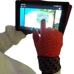 Womens Elegant Touch Screen Winter Gloves - Gifts Are Blue - 4