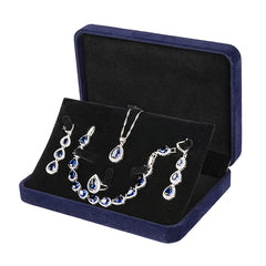 4 pc Womens Jewelry Set, 925 Sterling Silver, in Jewelry Box, all SKUs