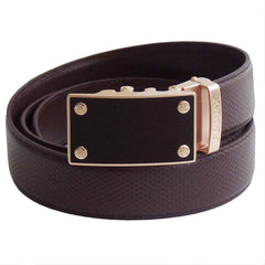 FEDEY Mens Classic Leather Ratchet Belt w Blank Canvas Automatic Buckle