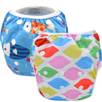 2 Pack Leakproof Reusable Swim Diapers, 0 to 3 years - Gifts Are Blue - 4