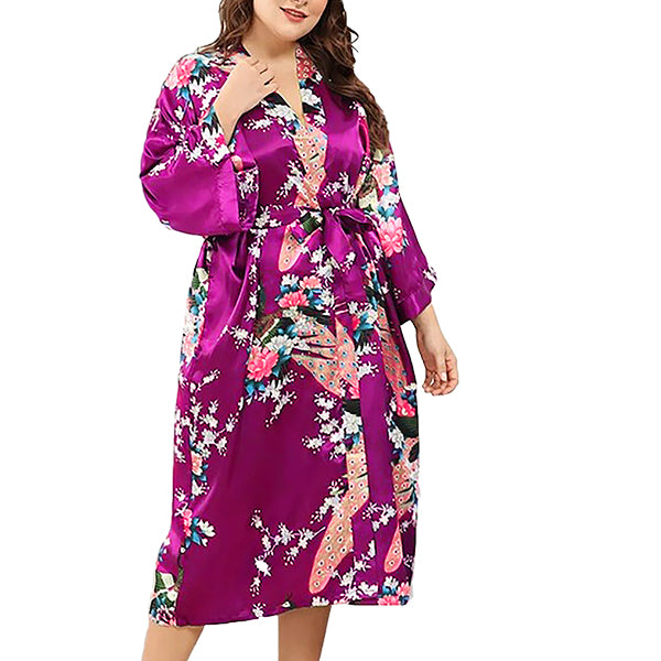 Medium Length Womens Robe, Fuchsia