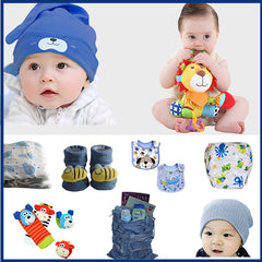Gifts Are Blue Baby Boy Bundle Box Gift Set - 10 Items