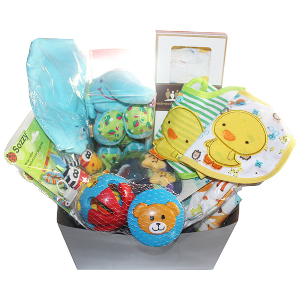 Gifts Are Blue Unisex Baby Bundle Gift Set for Expecting Mothers, Main View