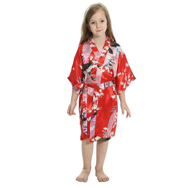 Red Mommy and Me Robes, Floral, Satin, Child Robes, all SKUs