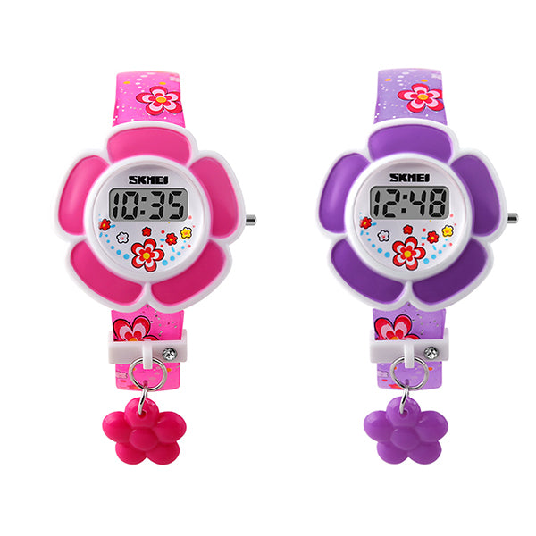 SKMEI Girls Cute Flower Digital Watch with Charm, 4 to 7 year olds, Main, all SKUs