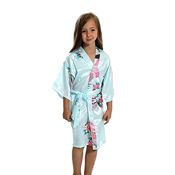 Light Blue Mommy and Me Robes, Floral, Child Girls Robe, all SKUs