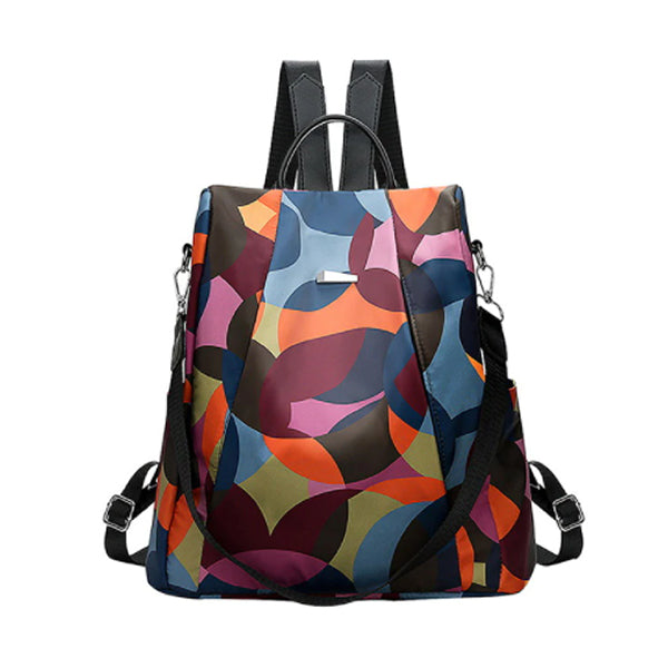 Ladies Multicolor Anti-Theft Oxford Backpack, Water Resistant, Main, StyleC