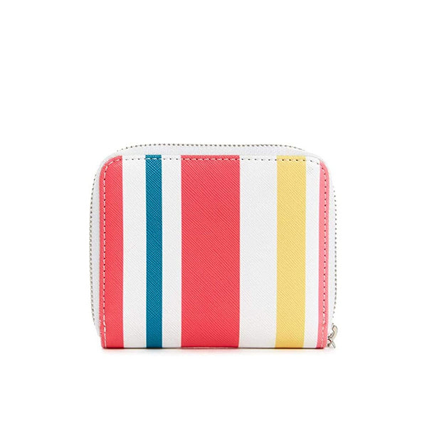 Abree Saffiano Zip Wallet by Guess, Small, Multi Stripes, UU602655, Back View