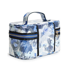 Cianna Floral Print Train Case - Gifts Are Blue - 2