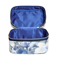 Cianna Floral Print Train Case - Gifts Are Blue - 3