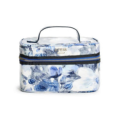 Cianna Floral Print Train Case - Gifts Are Blue - 1