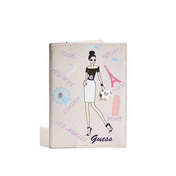 Womens Passport Case, City Girl Style