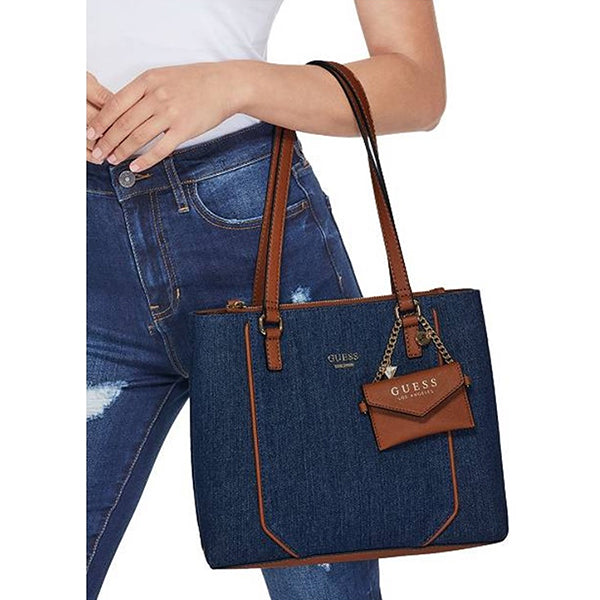 Dazzling Denim Satchel by Guess
