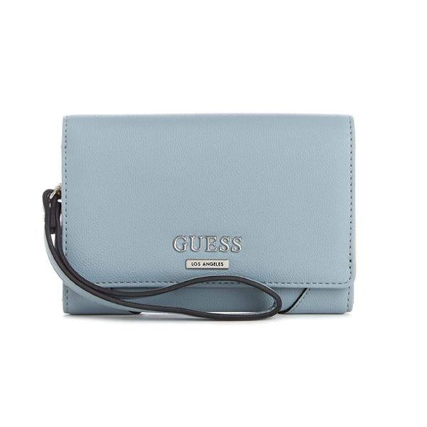 Guess Madsen Logo Phone Wristlet, Medium, Blue, LE756842, Main