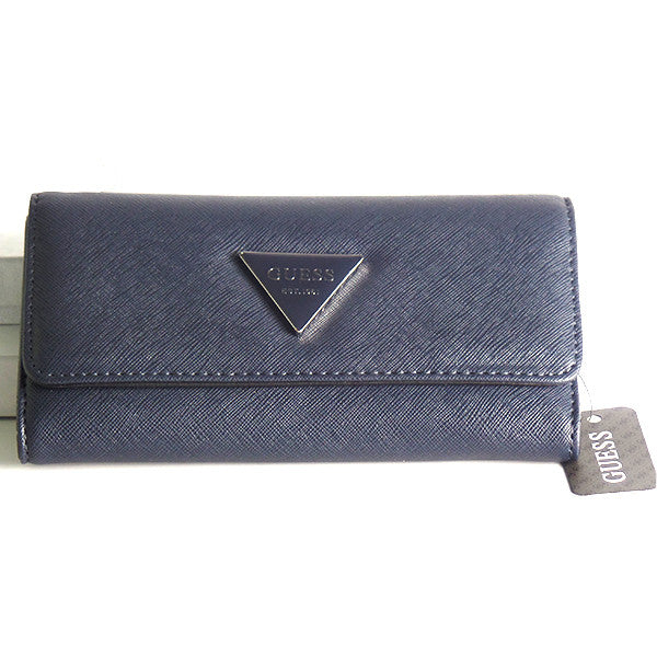 Guess Abree Slim Navy Wallet Clutch - Gifts Are Blue - 1