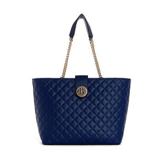 Plush Quilted Carryall Tote Handbag by Guess
