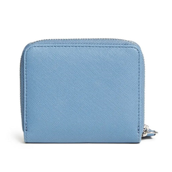 Guess Sibley Small Zip Around Denim Wallet SF784855 Backview