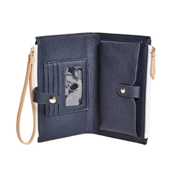 Skylar Phone Wristlet by Guess, Large, Blue, DX20184, Inside View
