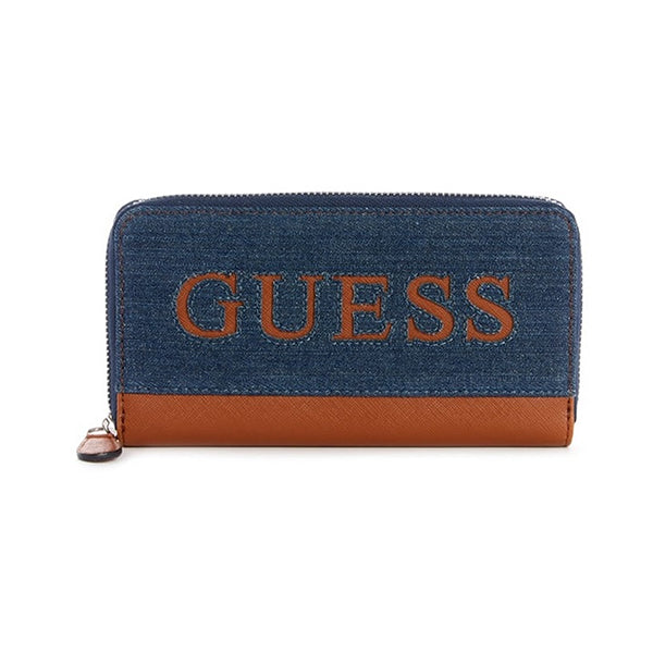 Guess Waldron Denim Zip Around Wallet, Main, D7566599, all SKUs