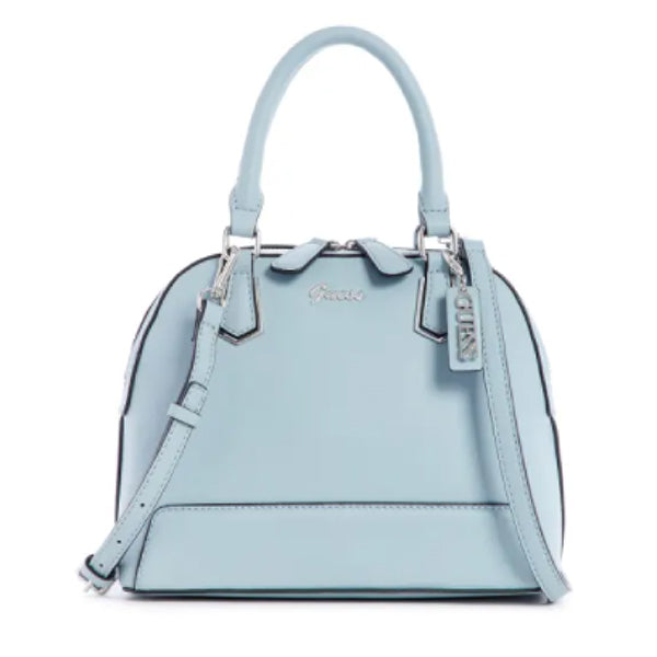 Barretto Dome Satchel by Guess, Small, Blue, LE772206, Main