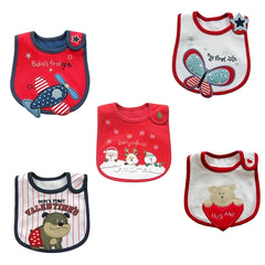 Baby Waterproof Bibs w Holiday Designs, 4th, Christmas, Valentine