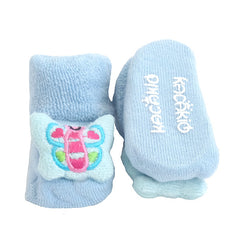 3 Pack Cute Infant Baby 3D Socks Slippers - Gifts Are Blue - 9