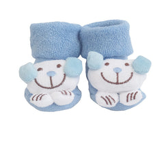 Cute Infant Baby Cotton Socks Shoes, 0 to 6 Months - Gifts Are Blue - 9