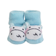 Cute Infant Baby Cotton Socks Shoes, 0 to 6 Months - Gifts Are Blue - 6