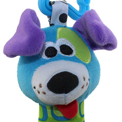 Plush Blue Dog Hand Rattle Toy for Baby - Gifts Are Blue - 3