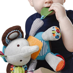 Newborn Baby Plush Animal Toy Rattle for Crib or Stroller