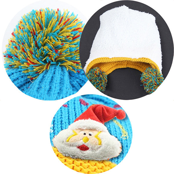 Infant Knitted Ready for Christmas Winter Beanie Hat, 6M to 24M - Gifts Are Blue - 7
