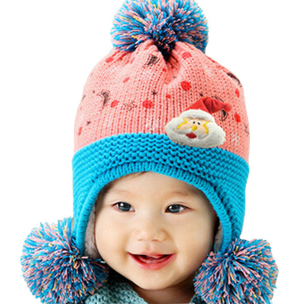 Infant Knitted Ready for Christmas Winter Beanie Hat, 6M to 24M - Gifts Are Blue - 2