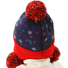 Infant Knitted Ready for Christmas Winter Beanie Hat, 6M to 24M - Gifts Are Blue - 8