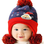 Infant Knitted Ready for Christmas Winter Beanie Hat, 6M to 24M - Gifts Are Blue - 3
