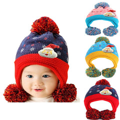 Infant Knitted Ready for Christmas Winter Beanie Hat, 6M to 24M - Gifts Are Blue - 1