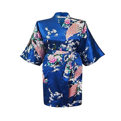 Floral Womens Plus Size Robe, Jewel Blue