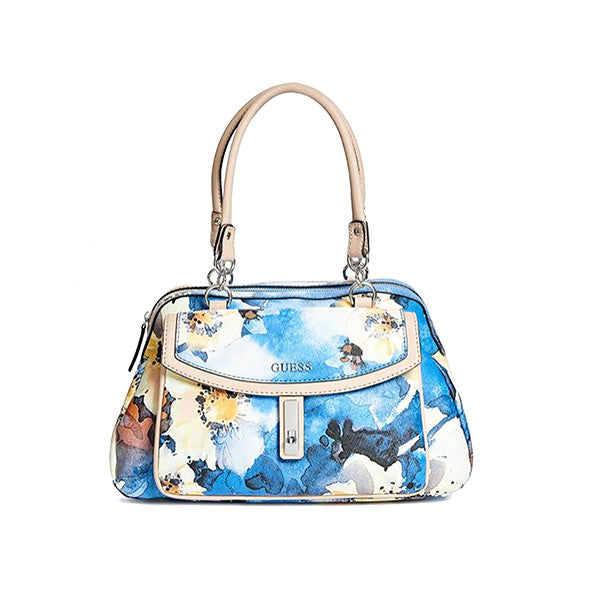Guess Kendale Blue Floral Satchel
