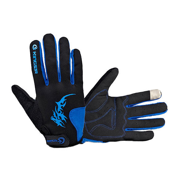 Kingsir Full Finger Touch Screen Gloves - Gifts Are Blue - 1