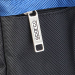 Sparco Blue Gym and Travel Bag - S6_BLU, Closeup Zip, Blue
