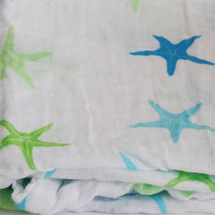 2 Pack Pre-Washed 100% Muslin Cotton Swaddle Blanket Gift Set, Large, 47 x 47 - Gifts Are Blue - 8