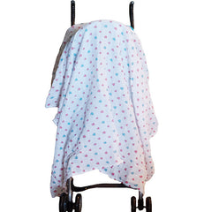 2 Pack Pre-Washed 100% Muslin Cotton Swaddle Blanket Gift Set, Large, 47 x 47 - Gifts Are Blue - 4