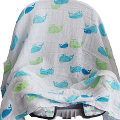 2 Pack Pre-Washed 100% Muslin Cotton Swaddle Blanket Gift Set, Large, 47 x 47 - Gifts Are Blue - 5