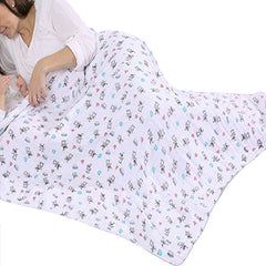 2 Pack Pre-Washed 100% Muslin Cotton Swaddle Blanket Gift Set, Large, 47 x 47 - Gifts Are Blue - 6