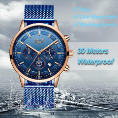 LIGE Mens Luxury Sports Watch, waterproof, all SKUs