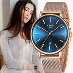 LIGE Womens Casual Ultra Thin Stainless Steel Watch, Model, all SKUs