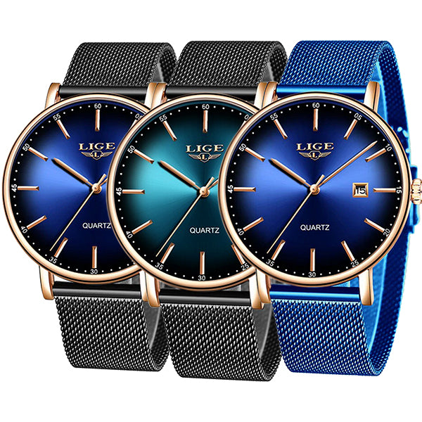 LIGE Womens Simple Elegance Watch, Color Selections, all SKUs
