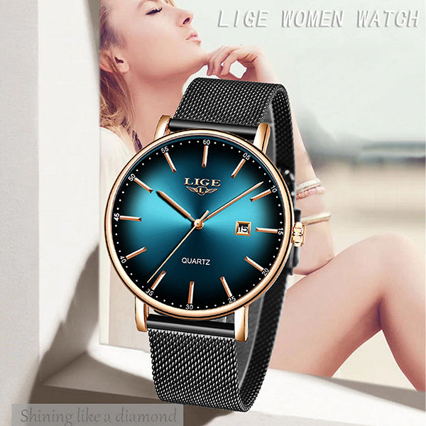 LIGE Womens Simple Elegance Watch, Model, all SKUs